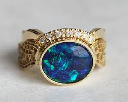 Opal Wedding Ring Sets by Etsy Your Place To Buy And Sell All Things Handmade