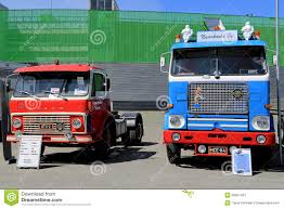 volvo lorry two classic volvo n12 trucks editorial image image 90742535
