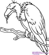simple vulture tattoo outline vulture tattoo design