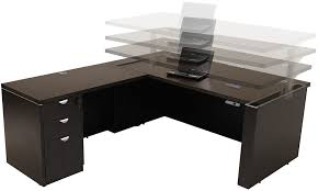 Executive Desk With Hutch Exquisite L Shaped Executive Desk Of Adjustable Height U Office W