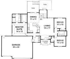 ranch floor plans with 3 car garage plan 1336 3 bedroom ranch w 3 car garage and walk up walk out