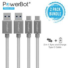 powerbot pb303 2pk data sync charge cable 2 pack 4 feet high
