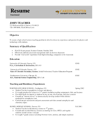 Sample Resume Objectives For Preschool Teachers by Examples Of Teaching Resume Objectives