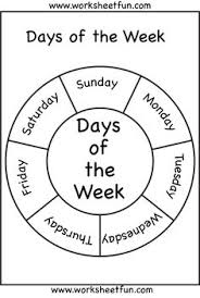 lita lita free days of the week wheel in english and spanish for