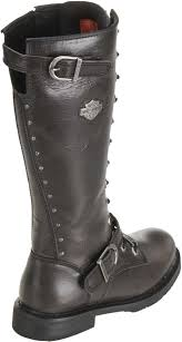 harley motorcycle boots harley davidson womens jill 13 inch gunmetal leather motorcycle
