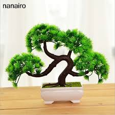 artificial tree welcoming plant potted bonsai flower green