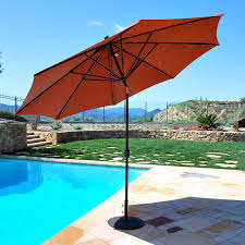 11 Cantilever Patio Umbrella With Base by Galtech Sunbrella 11 Ft Maximum Shade Deluxe Aluminum Auto Tilt