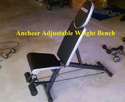 review ancheer adjustable weight bench youtube