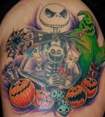 nightmare before christmas back tattoo tattoomagz
