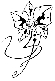 orchid tribal by hallowgazer on deviantart