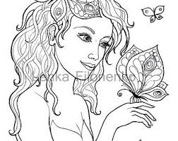 fairy coloring page etsy