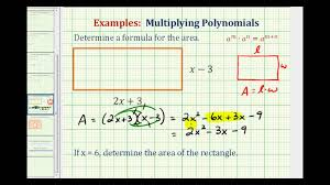 Factoring Trinomials Of The Form Ax2 Bx C Worksheet Answers Ex Find The Area Of A Rectangle Using A Polynomial Youtube