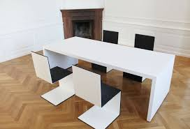 Besprechungstisch Büromöbel In Hochglanz Weiß Rechteck Design Möbel
