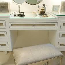 Glass Makeup Vanity Table Glass Top Makeup Vanity Design Ideas