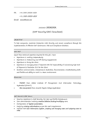 Sap Resume Examples by Sap Resumes 100 Fresher Resume Sample Resume Templates For