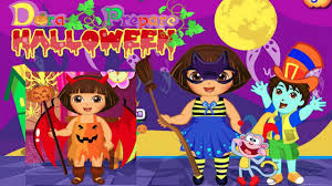 dora prepare halloween gameplay for kids halloween games party