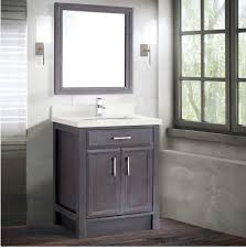calais 28 inch transitional bathroom vanities gray finish