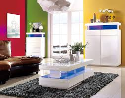 Coffee Tables With Led Lights Amsterdam Gloss Coffee Table With Led Lights Home Furniture