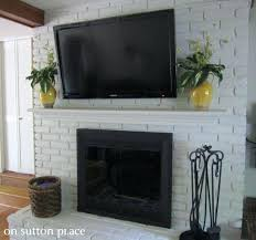 Mounting A Tv Over A Gas Fireplace by Mount Over Fireplace Hide Wires Mounting Tv Into Brick Plasma