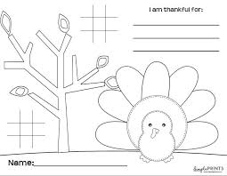 free printable thanksgiving placemat for the table