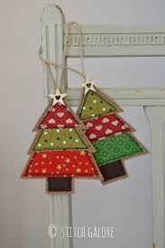 Handmade Fabric Crafts - handmade tree decorations by stitch galore decorated