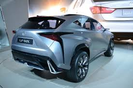 lexus lf nx lexus lf nx compact suv concept slices through detroit