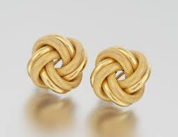 design of earrings gold a pair of italian gold knot design earrings 05 27 11 sold 299