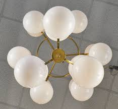 Glass Globes For Chandeliers Mid Century Style Murano Glass Globe Chandelier Jean Marc Fray