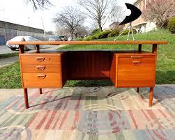 Designer Floating Desk Mid Century Modern Vintage Furniture Danish Sofa Credenza Tables