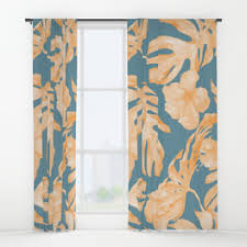 hibiscus window curtains society6