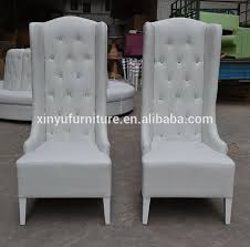 High Back Wing Chairs For Living Room 2016 Fashion White Wedding High Wing Back Chair High