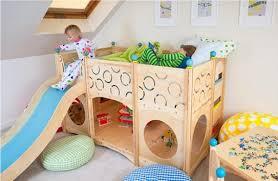 chambre enfant toboggan lits superposés tendance avec toboggan idées de décoration pour la