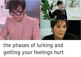 Lurking Meme - ig the phases of lurking and getting your feelings hurt funny