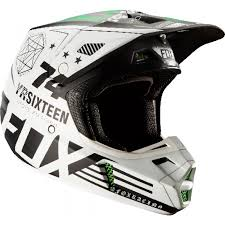 monster motocross helmets 2017 fox v2 pro circuit monster motocross helmet white green 1stmx