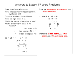 Mixture Word Problems Worksheet Answers To Station 1 Word Problems Ppt Download