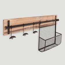 wood and metal entryway wall storage world market