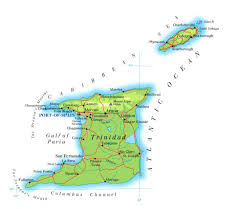 where is and tobago located on the world map large detailed road and physical map of and tobago