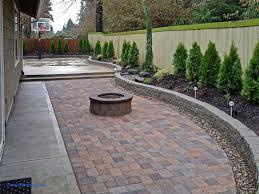 Outdoor Ideas For Backyard Fabulous Backyard Paver Patio Outdoor Building Ideas Backyard