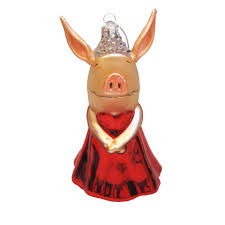 kurt adler ol4801 glass the pig ornament 5 inch ornament
