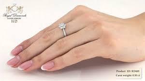 inel de logodna aur alb inel de logodna aur alb 18kt cu 7 diamante rotunde briliant rd485w