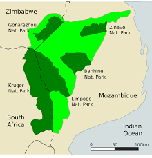 Mozambique Map Great Limpopo Transfrontier Park U2013 Wikipedia
