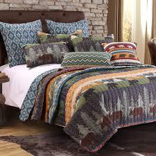 greenland home black lodge quilt set 3