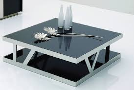 Coffee Tables Black Glass Glass Coffee Table Parsons Montserrat Home Design Square Glass