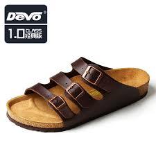 devo 2014 summer men cork slippers mens buckle sandals man fashion