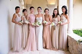 mix match bridesmaid dresses mix and match blush bridesmaid dresses weddbook