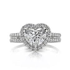heart shaped diamond engagement ring broumand 2 67ct heart shaped diamond engagement ring