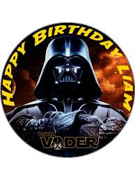 wars edible image 7 5 darth vader wars edible icing or wafer paper cake topper