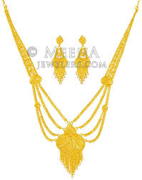 gold long necklace images 22kt gold light necklace set stbr21540 us 3 498 22kt gold jpg