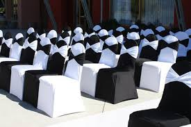 black chair covers party rental