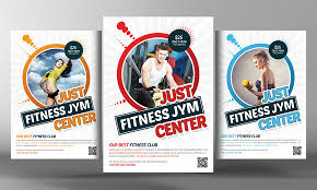 fitness flyer template fitness flyer template by business templates on creativemarket